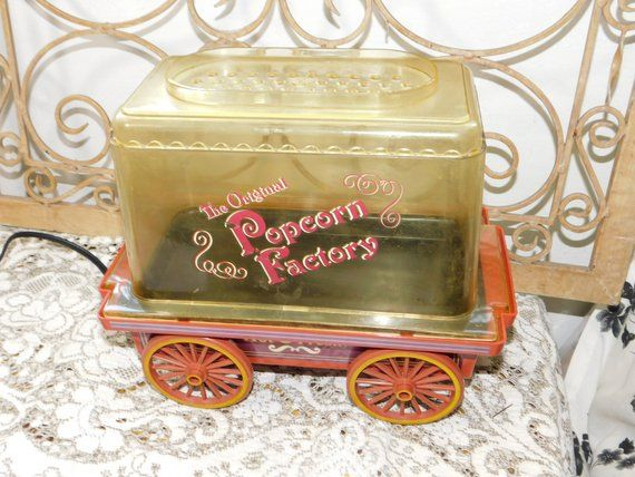 Pop Corn Factory Hot Air Wagon, Popcorn, Wagon, Kitchen Decor, Kitchen Ware, Vintage Kitchen, country decor, farm house decor, :)s*s #kitchenware