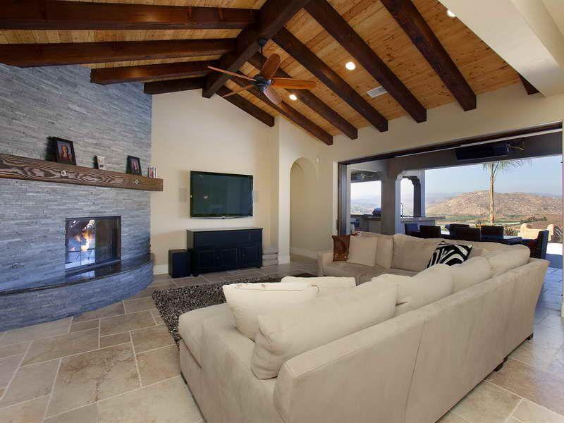 Exposed Beam Ceiling Open Living Room Wooden Ceiling Design