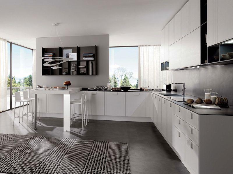 Cucina componibile con isola TELEA by Euromobil | arredamento ...