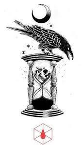 Resultado de imagen para reloj de arena tattoo design