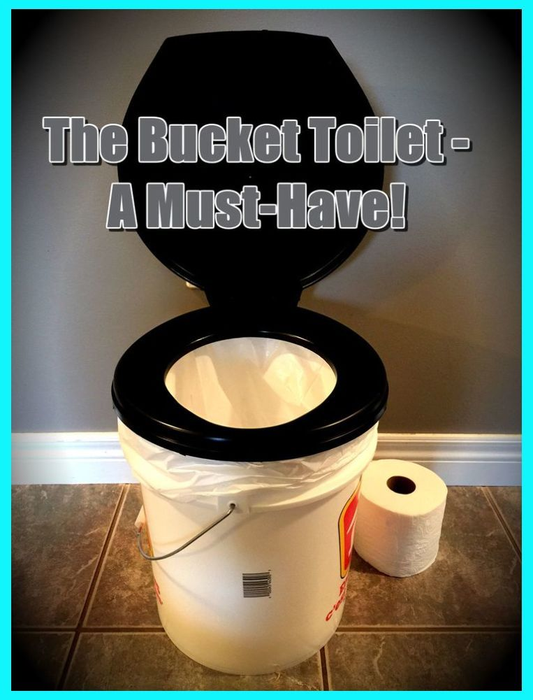 The Beautiful Thing About A Bucket Toilet Is That It S Usefulness Is Not Just Limited To Eme In 2020 Camping Bathroom Camping Toilet Camping Hacks