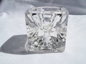 Clear Glass Cube Candle Holder - Two Sides/Two Size Candles #teamsellit http://bit.ly/IKAaEZ