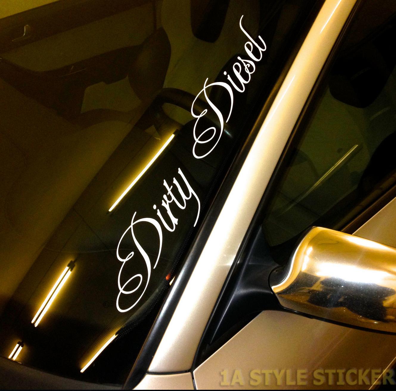 Dirty Diesel Frontscheibenaufkleber Frontscheibenaufkleber Uber