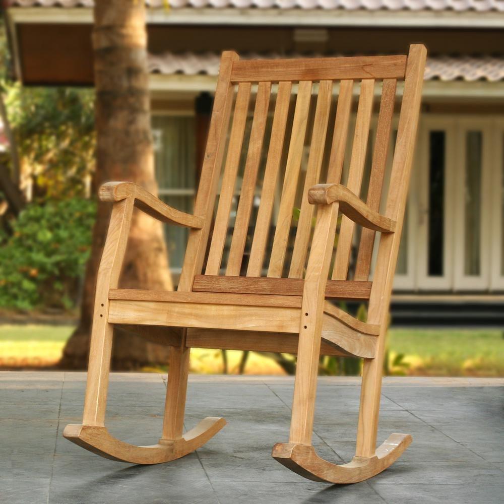 Tortuga Outdoor Jakarta Teak Wood Patio Rocking Chair Teak Rocking Chair Wooden Rocking Chairs Rocking Chair