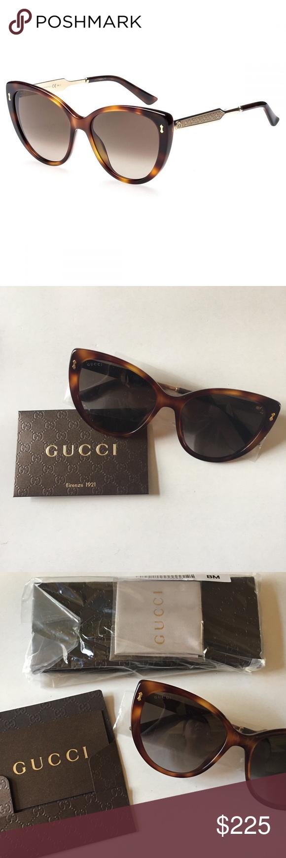 d9cb159ba507e Gucci Havana Cat Eye Sunglasses +Brand new with tag +No scratches