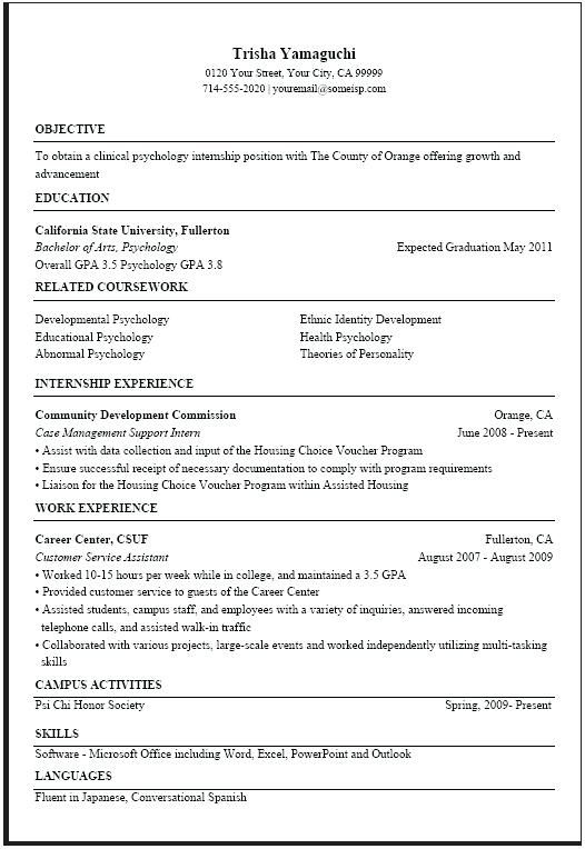Usa Jobs Resume Templates Pinterest Sample Resume Resume And