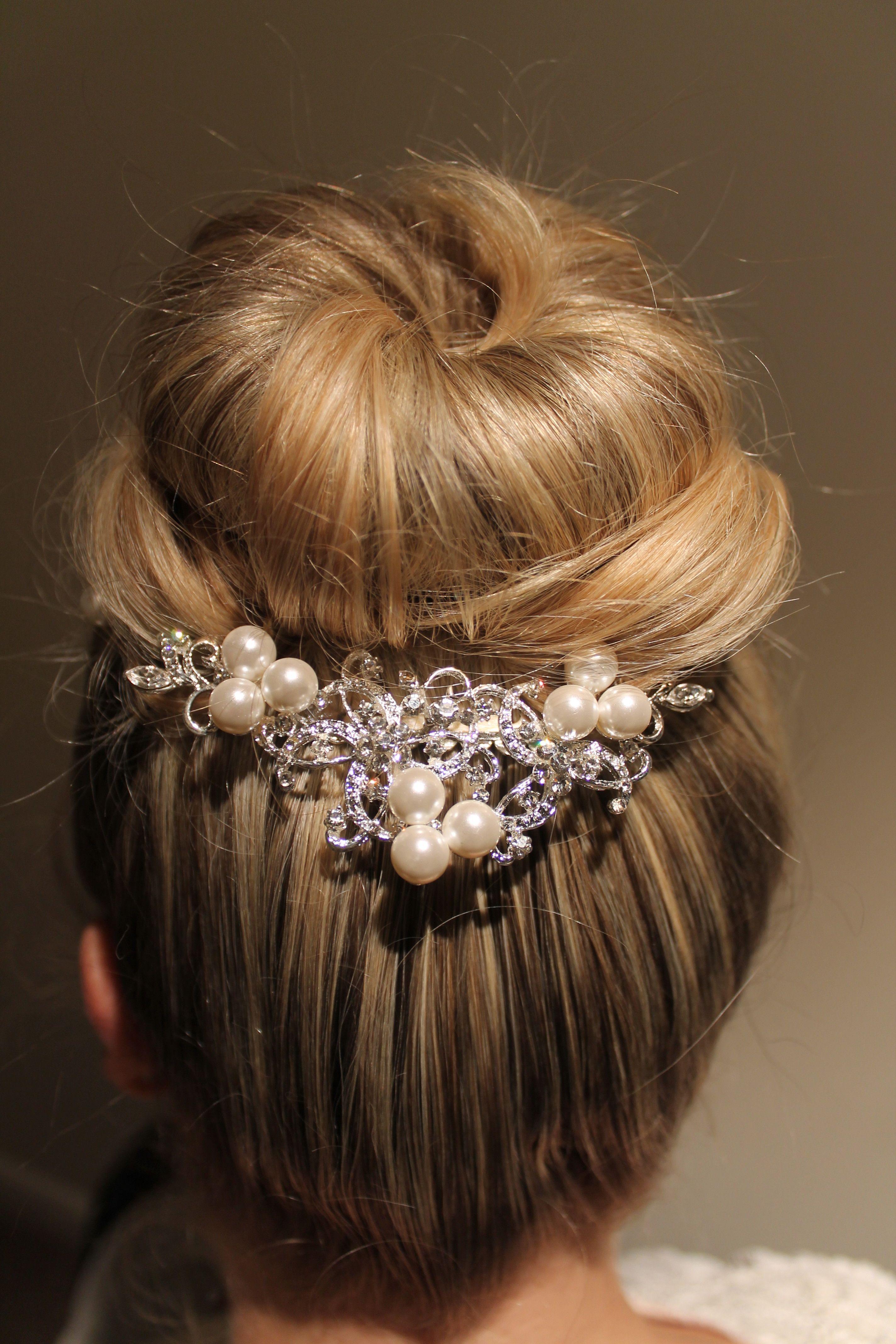 Wedding Hair Emma Louise Millinery crystal & pearl Ebony tiara