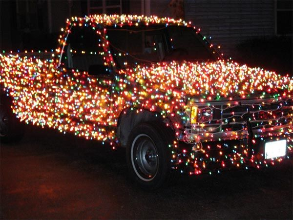 Pretty Sure This Is How They Do It In My Hometown Christmas Truck Christmas Car Holiday Lights Display