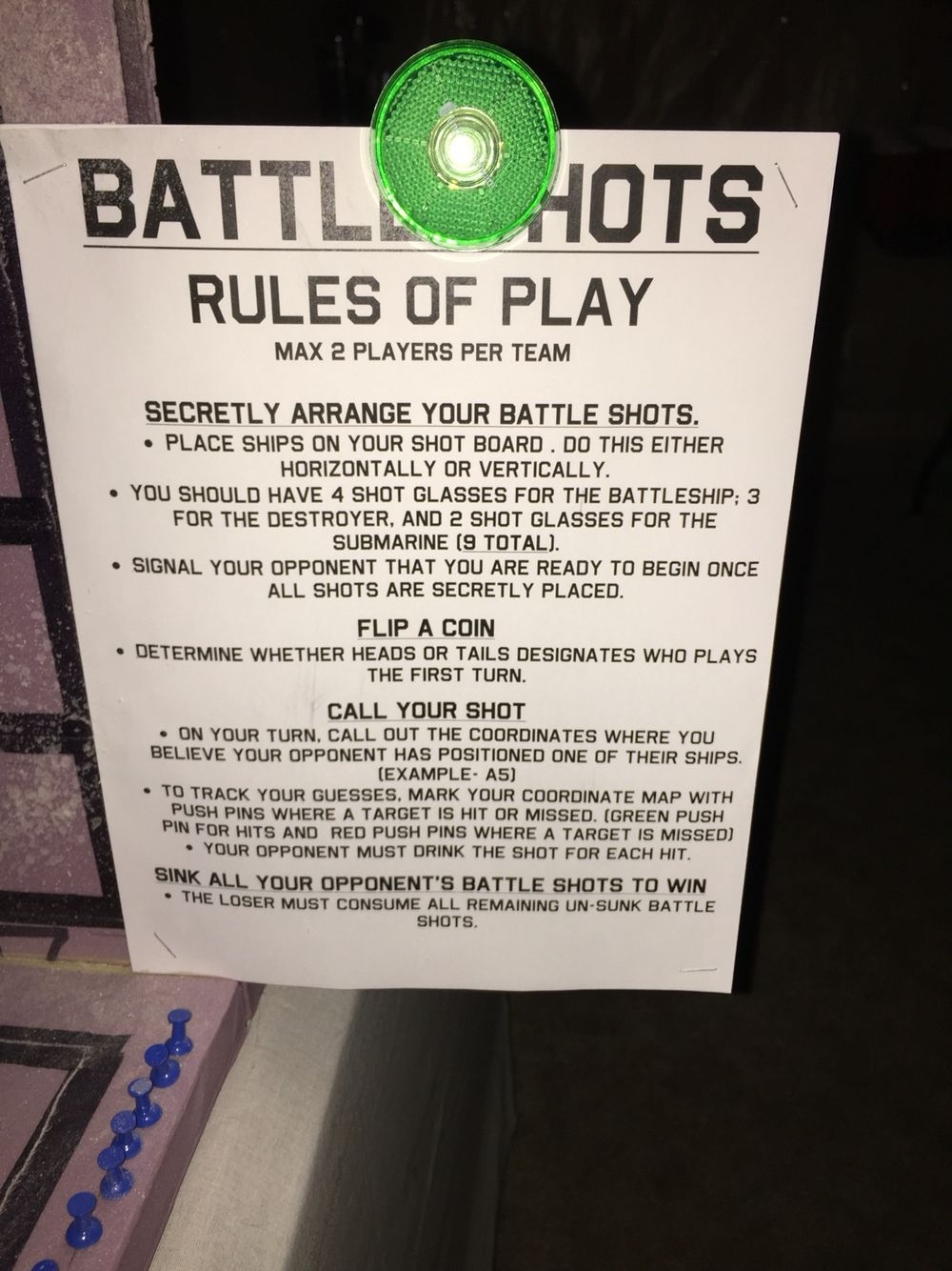 battleshot adult party game - Halloween Party Rules