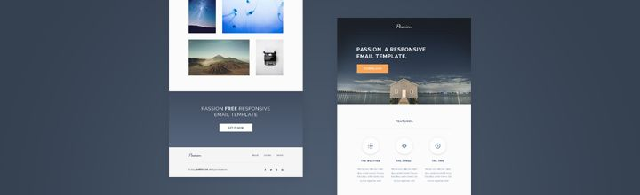 Passion Is A Free Stunning Html Responsive Email Template It Also