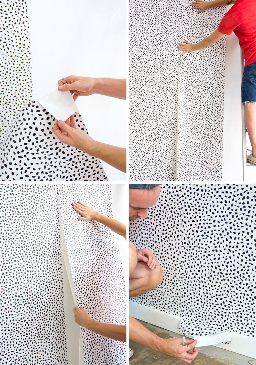 Temporary Wall Paper emily henderson - how to put up temporary wallpaper | diy projects