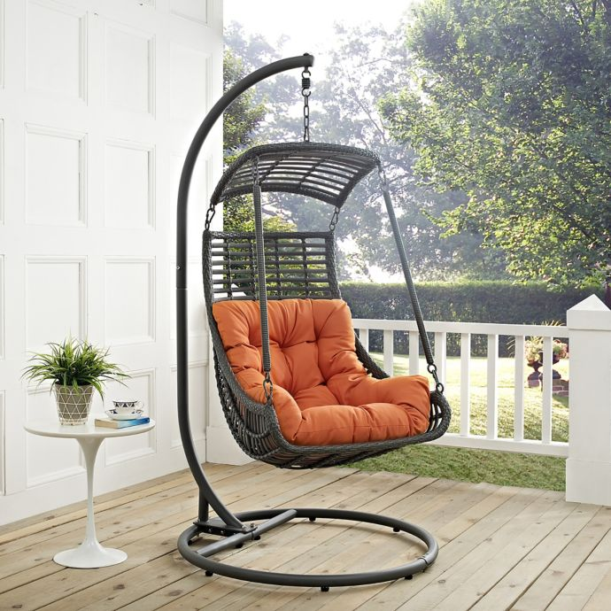 Groovy Modway Jungle Patio Stand Alone Swing Chair Bed Bath Ibusinesslaw Wood Chair Design Ideas Ibusinesslaworg