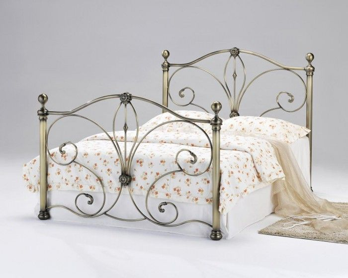 Diane Antique Brass King Size Bed   Pinterest   Traditional irons ...
