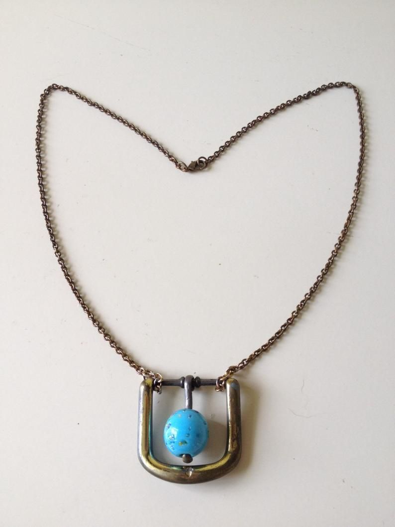 Brass Buckle Blue Necklace Upcycle Jewelry Etsy In 2020 Jewelry Upcycled Jewelry Belt Buckle Jewelry