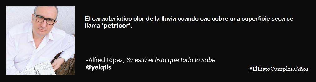 #Petricor #Curiosidades #SabíasQue #Etimologías  #ElListoCumple10Años