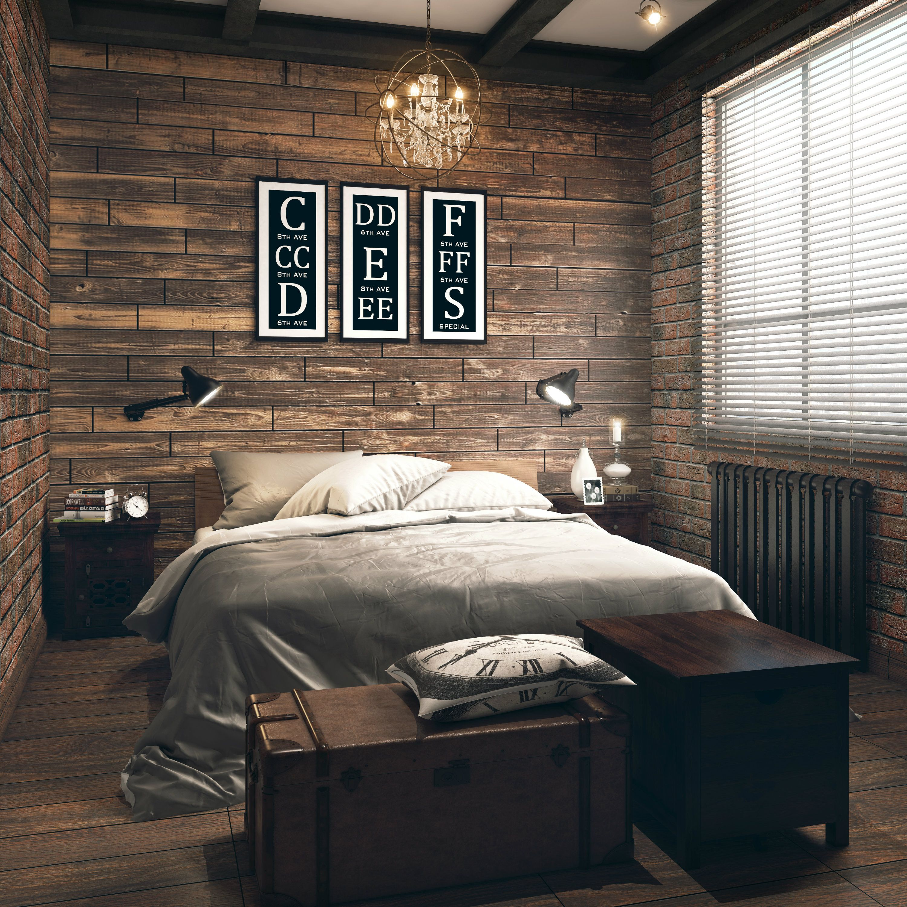 Industrial Themed Bedroom Raw Finished Wood Wooden Furniture Compact Bedroom Rustic Loo Industrial Bedroom Design Bedroom Design Contemporary Bedroom Design
