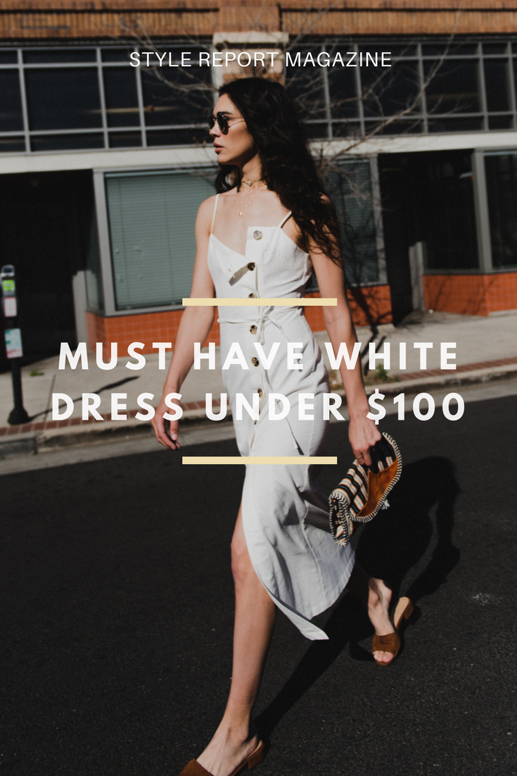 ef803d54e0b We are loving all white outfits for spring and this white midi dress is at  the