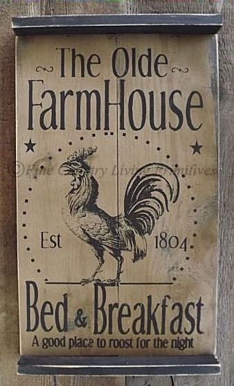 "Primitive Tavern Style Sign $60. Measures 25""x14.5"". www.finecountrylivingprimitives.com"