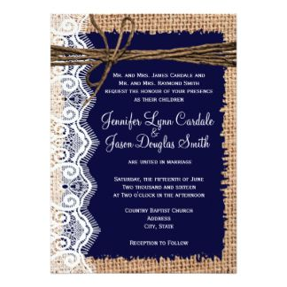 Rustic country burlap lace twine wedding invites wedding rustic country burlap lace twine wedding invites solutioingenieria Choice Image