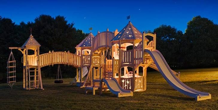 20 Of The Coolest Backyard Designs With Playgrounds Backyard Adventure Playset Outdoor Backyard Playground