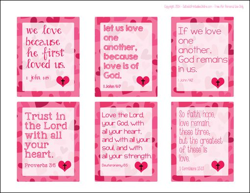 Printable Religious Valentine Cards for Kids | The old, For kids ...