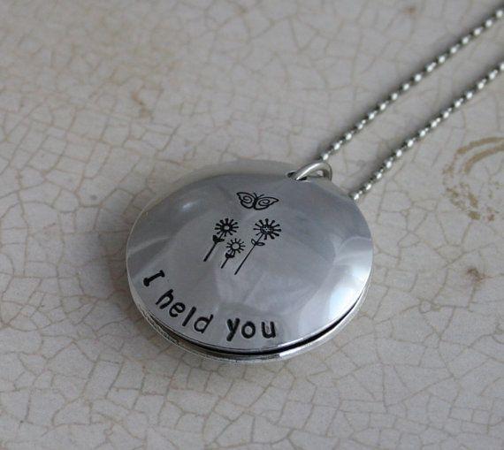 Custom miscarriage memorial jewelry aluminum i held you in memory custom miscarriage memorial jewelry aluminum i held you in memory of miscarriage baby aloadofball Choice Image