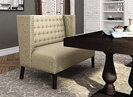 Amazon.com: Banquette Bench Entryway Breakfast Nook Dining Kitchen Seating  Benches For Living Room Office Furniture Elegance Settee Art Seat With Back  ...