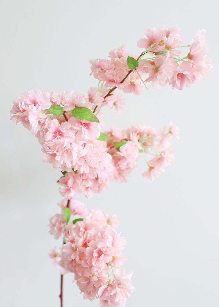 Pink Faux Cherry Blossom Flower Branch Cherry Blossom Flowers Cherry Blossom Branch Flower Branch