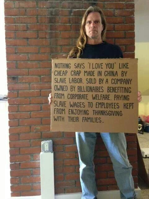 This sign says all there is to say about what's wrong with America: Walmart and McDonald's | Thanks to Occupy activist Barry Knight