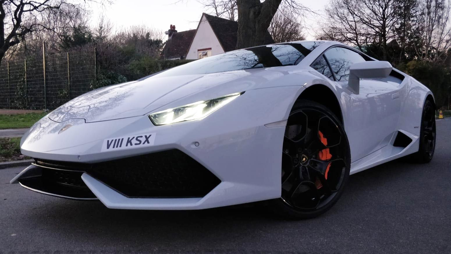 White Huracan Wedding Car Hire London and Home
