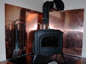 Copper Heat Shield For Wood Stove 3 Wood Stove Heat Shield