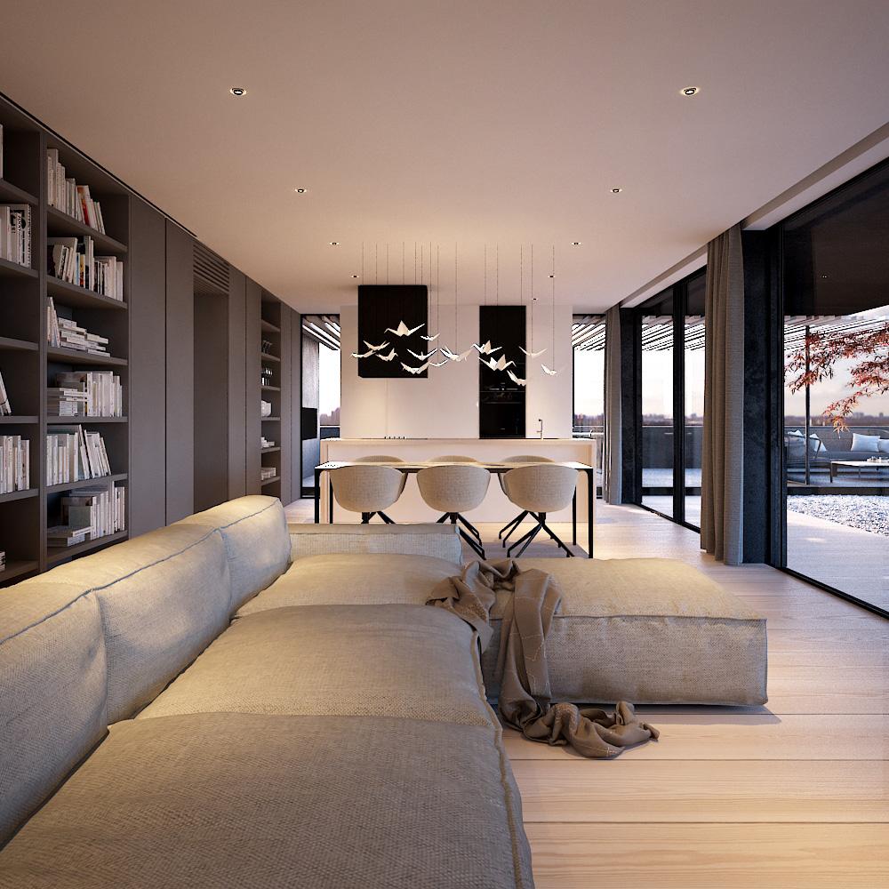 Le case lussuose hanno interni unici anche per la bellezza e ricercatezza degli arredi e non solo. Attico Mr Gray Arkimera Architecture And Design Progettazione Interni Casa Arredamento Soggiorno Moderno Salotti Minimalisti