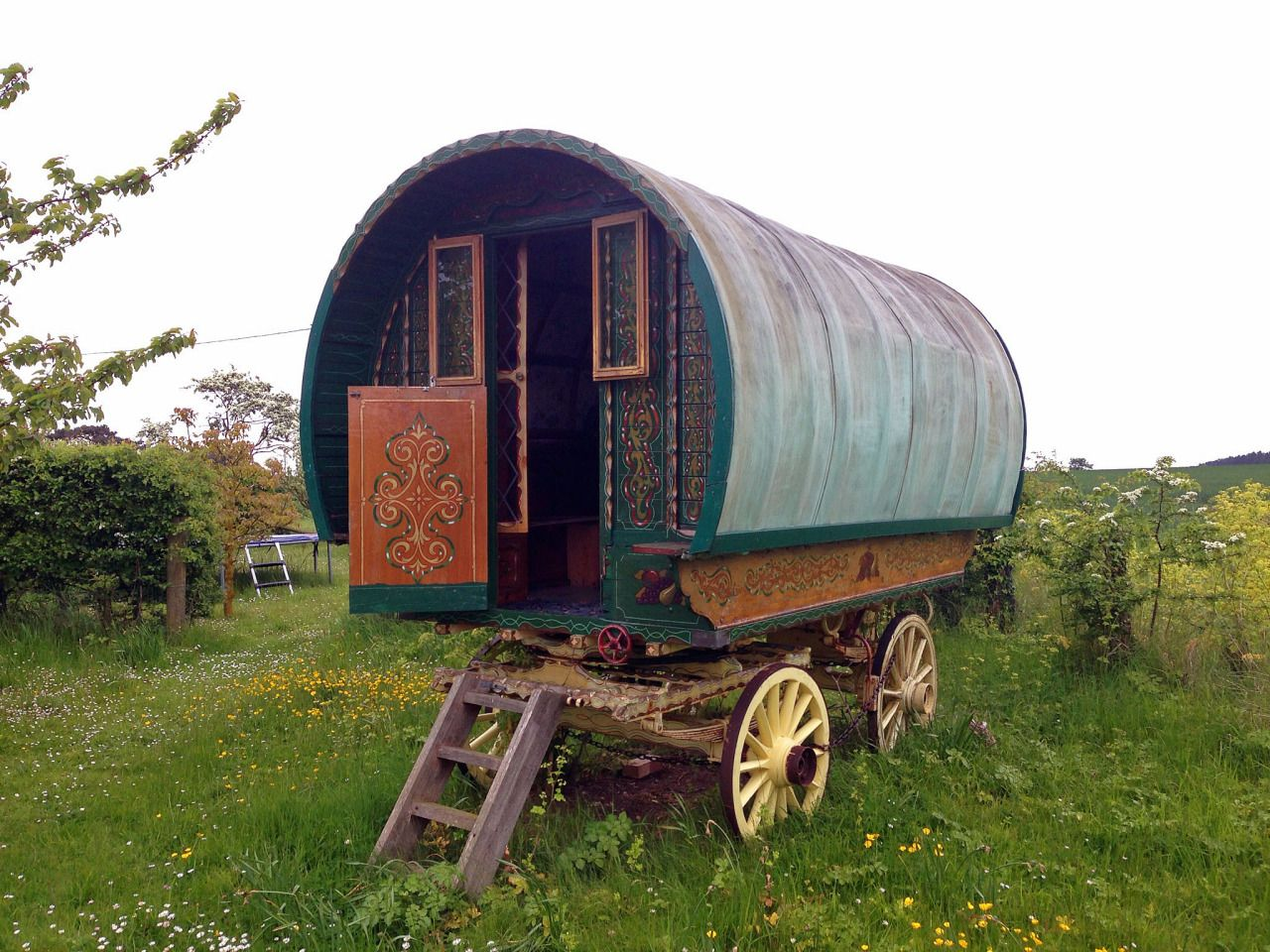 Green Patrol: Off RoadMy uncle's gypsy caravan he keeps in his garden in North Norfolk by the sea, complete with beds and a warm stove.