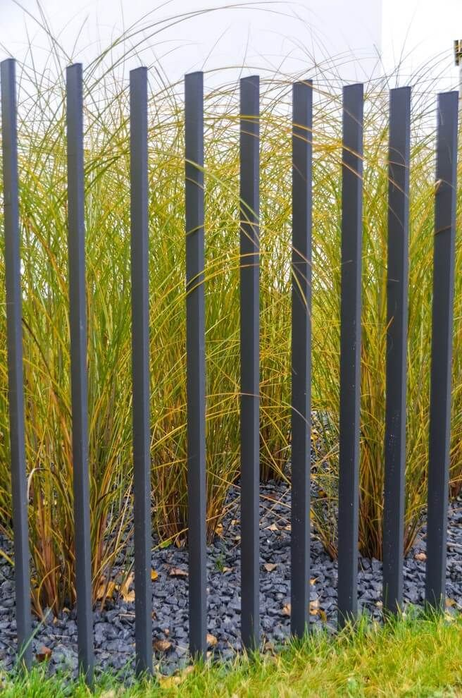 Metal Slat Garden Fence And Walls