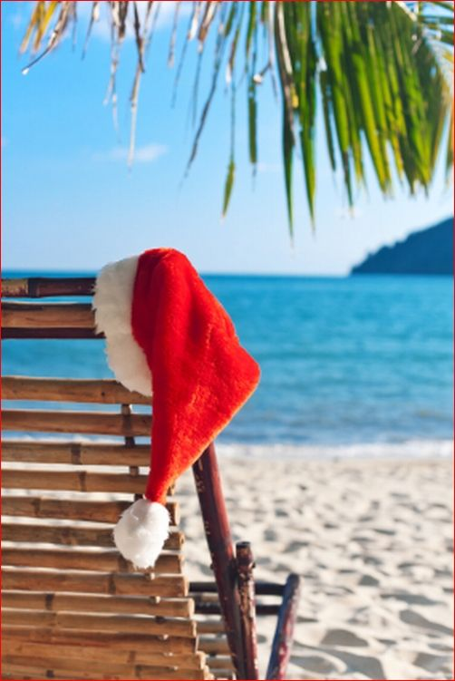 all i want for christmas is a real good tan take me to the islands put my feet in the sand