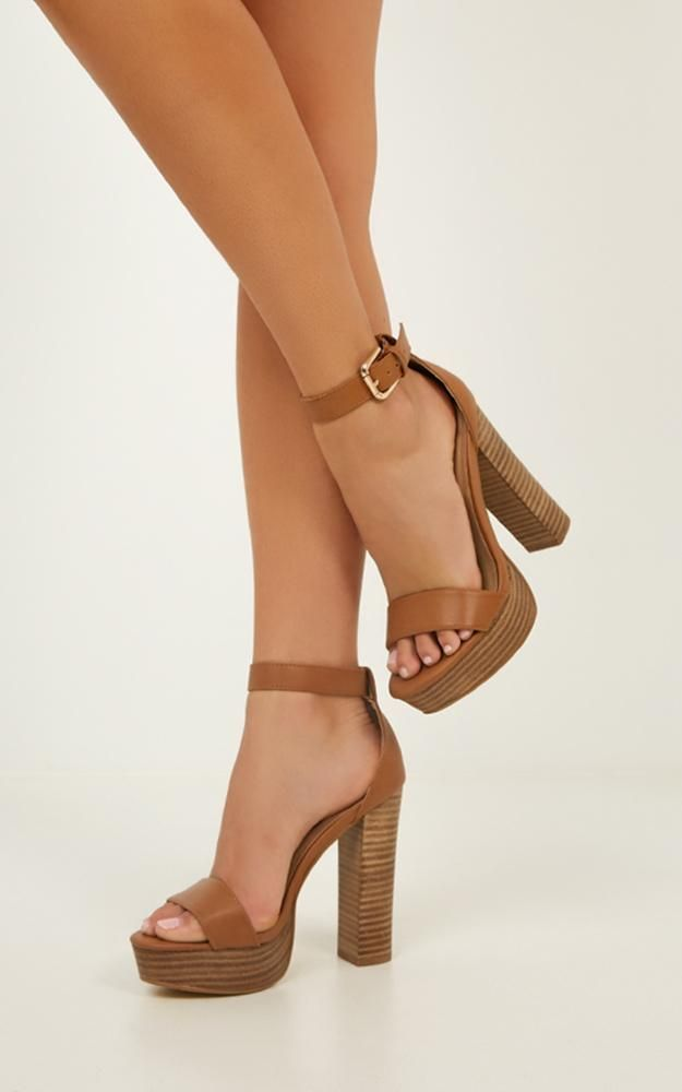 Billini - Egypt Heels In Tan | Showpo | Fashion heels