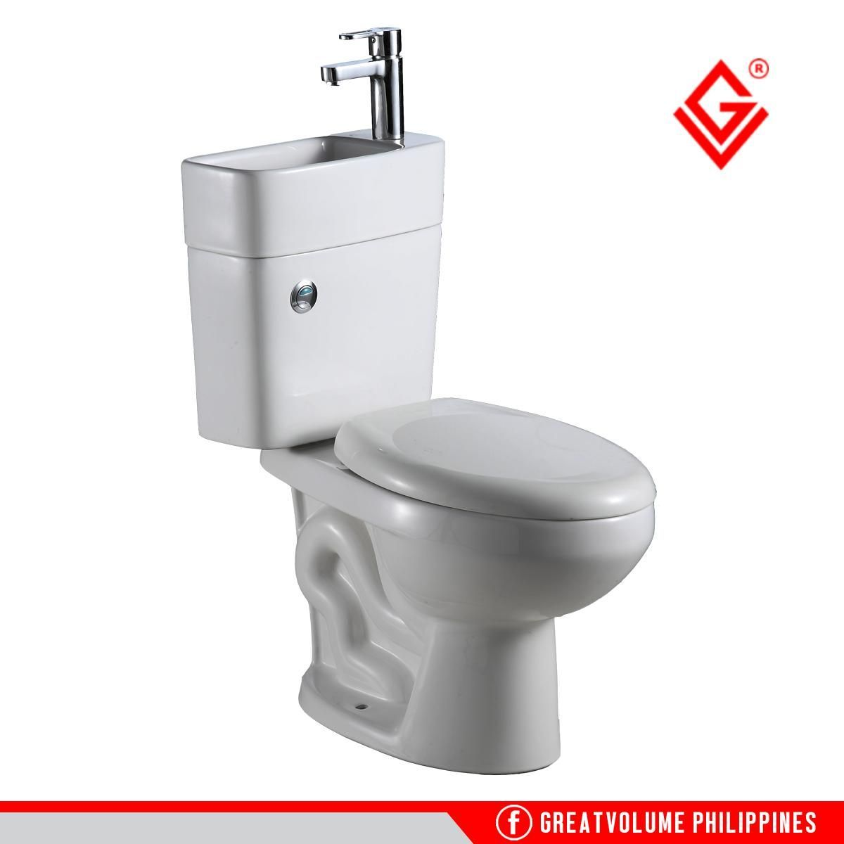 Buy Gv 6881 2in1 Dual Flush Water Closet Toilet Bowl With Basin Limited Offer Water Closet Heater Bidet Shower Hos Shower Hose Kitchen Sink Faucets Toilet Bowl