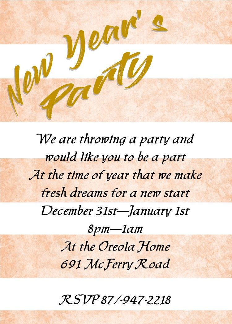 Stripes New Years Eve Party Invitations New Years Eve Invitations Party Invitations New Years Eve Party