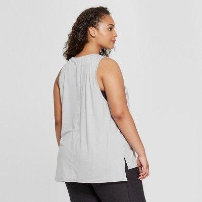 a27a34665 Women's Plus Size Muscle Tank Top - JoyLab? Gray Heather 1X #Muscle, #Tank,  #Women