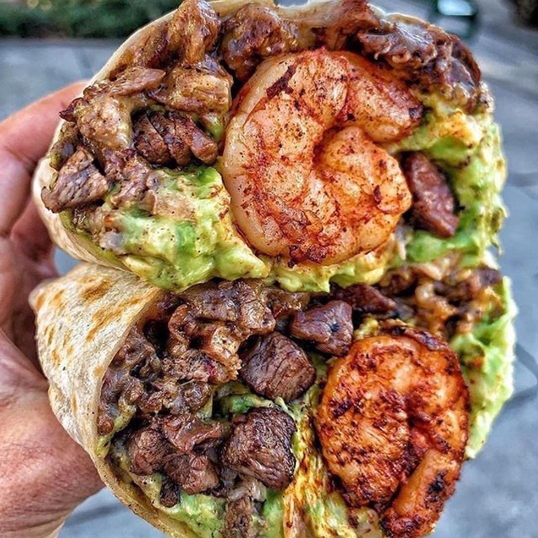 Mar Y Tierra Surf N Turf Burrito Recipes Food Mexican Food Recipes