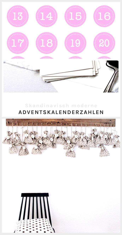 Kostenloses Adventskalenderzahlen Freebie für DIY Adventskalender,  #Adventskalender #Advents…