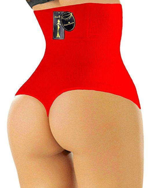 a2818a254e73a THONG SHAPERQUEEN 102 - Women Waist Cincher Girdle Tummy Slimmer Sexy Thong  Panty Shapewear at Amazon Women s Clothing store