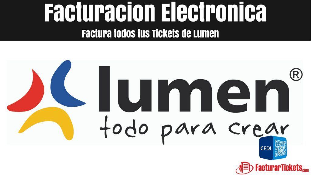 Facturacion lumen en linea facturacion electronica de tickets facturacion lumen en linea fandeluxe Gallery