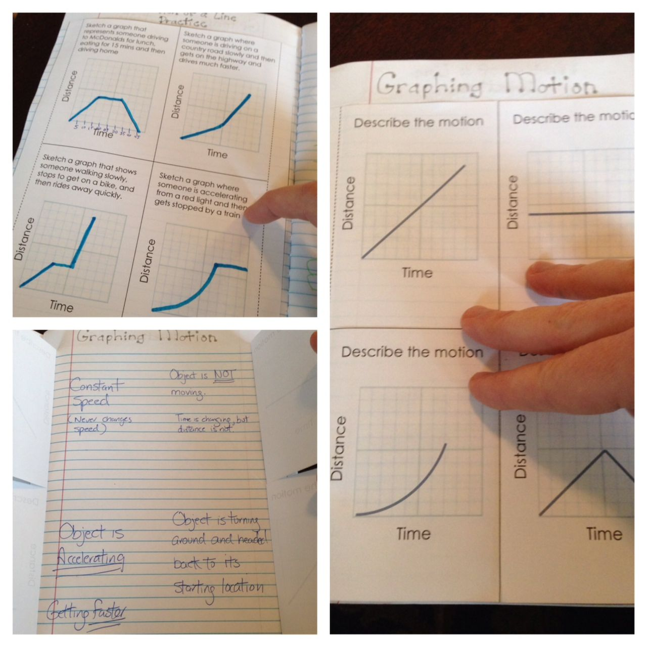 Motion Graphs Interactive Science Notebook Interactive Notebooks Force And Motion