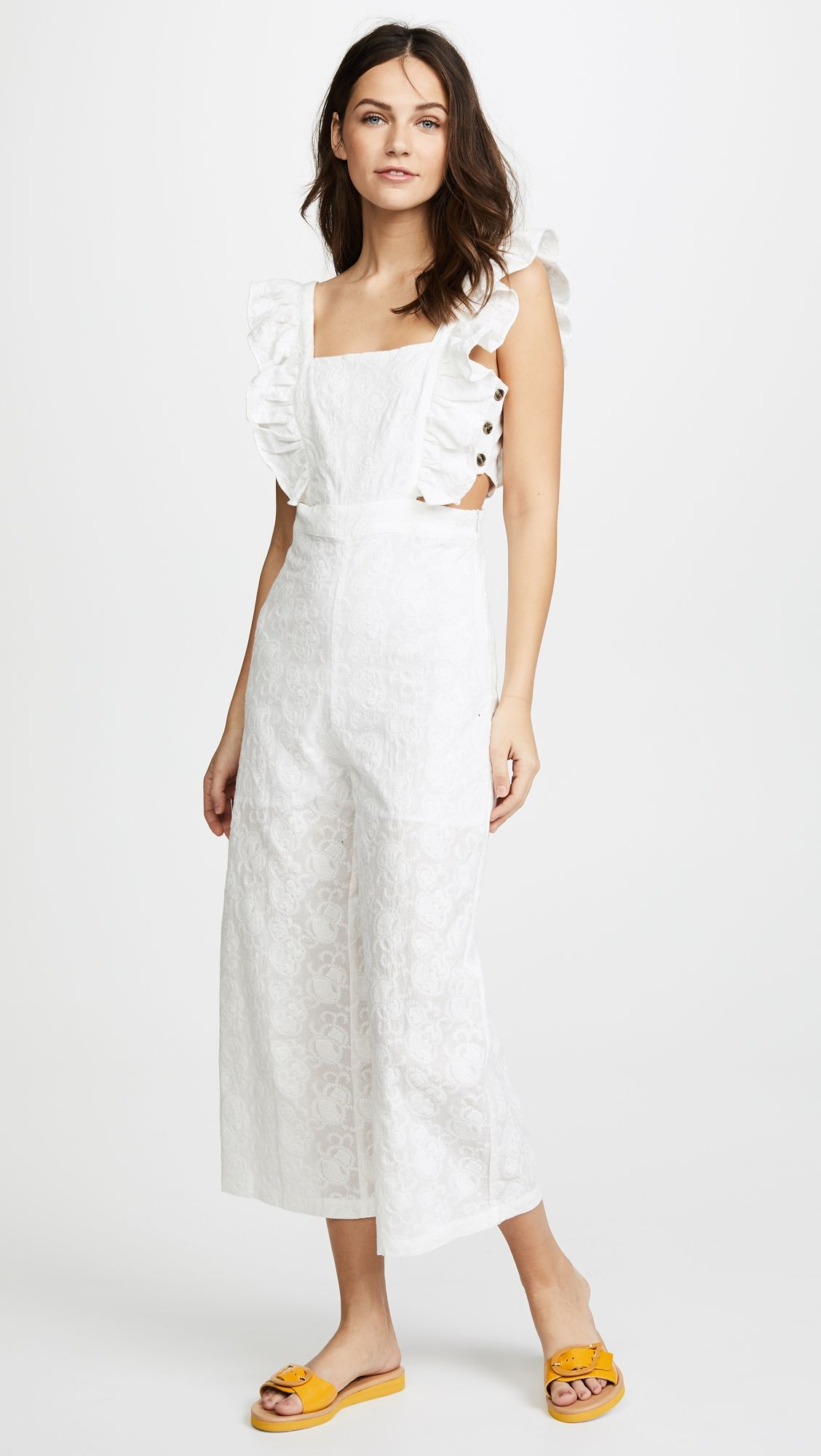 28188eb9b40 Ruffle Overall Jumpsuit in 2018