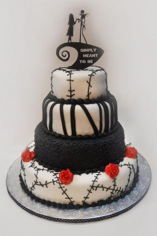 Nightmare Before Christmas wedding cake unique cakes Pinterest