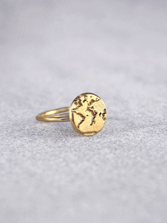 14k gold handmade world map ring valentines day by bubblebox 14k gold handmade world map ring valentines day by bubblebox gumiabroncs Gallery