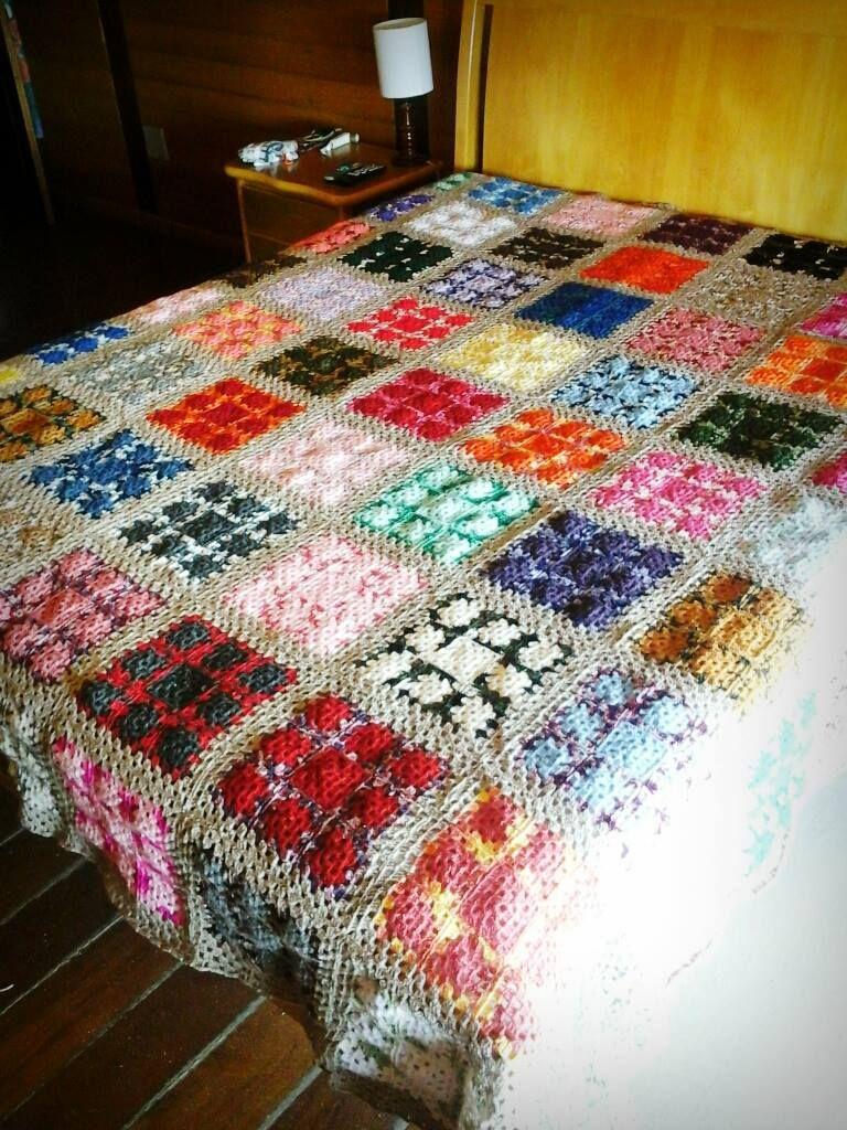 Colcha de casal em lã Bia