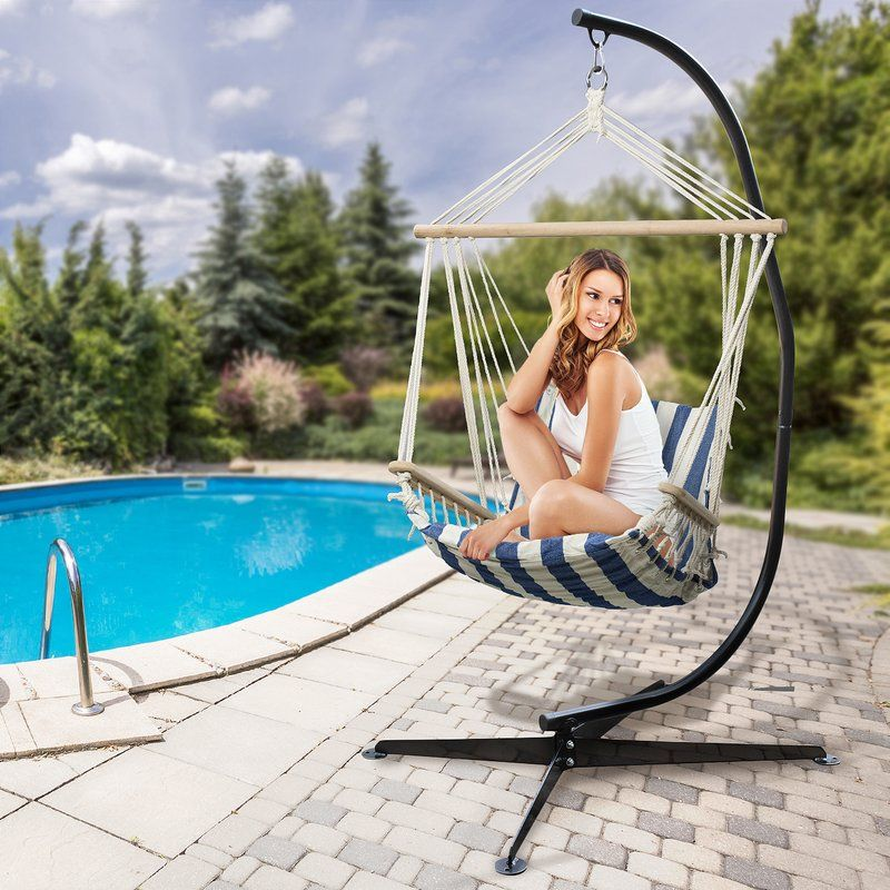 Marina Arc Steel Hammock Chair Stand Hammock chair stand