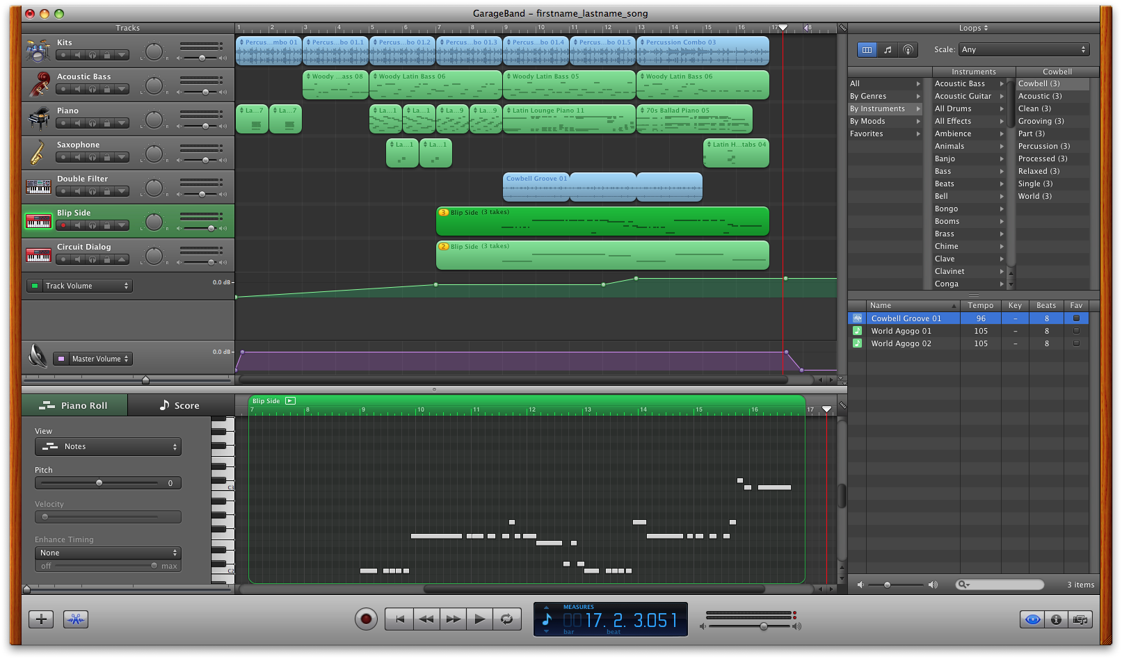 tutorial how to record a song in garage band